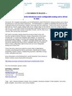 Servo2Go Introduce B060A400AC, B100A400AC Servo Amplifiers