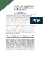 Un panorama de la teoría cognitiva de Beck de la depresión en Literatura Contemporánea
