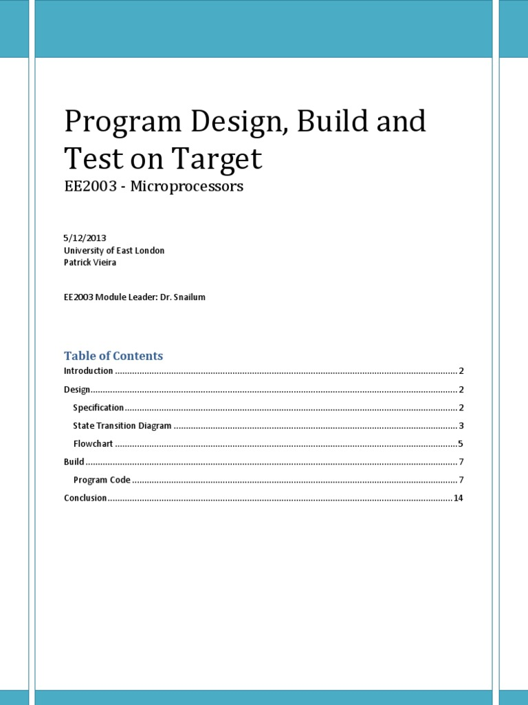 Program Design Build And Test On Target Microcontroller Subroutine Analog Timers Gururaj Products