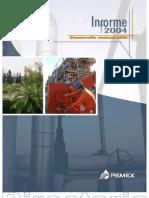 PEMEX Informe de Desarrollo Sustentable 2004