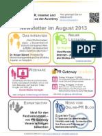 PR-Gateway Newsletter August
