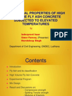 MECHANICAL PROPERTIES OF HIGH VOLUME FLY ASH CONCRETE  SUBJECTED TO ELEVATED  TEMPERATURES