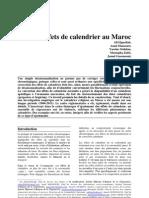 Les Effets de calendrier Maroc