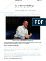Five Reasons Why Steve Ballmer Needed to Go