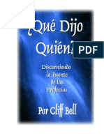Que Dijo Quien-Cliff Bell