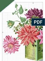 """Diagrama punct in cruce """"Vaza cu flori"""""""