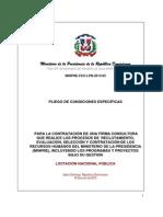 Pliego Condiciones Firma Consultora Reclutamiento MINPRE