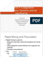 G-Force in Coagulation Flocculation Systems