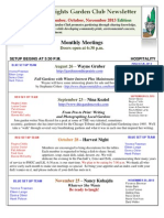 Aug Sept Oct Nov 2013 Newsletter