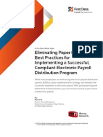 Electronic Payroll Distribution Program Best Practices