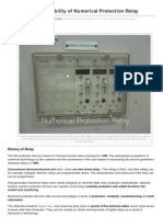 Flexibility and Reliability of Numerical Protection Relay