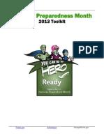 National Preparedness Month Toolkit 2013