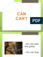 CAN - CAN'T