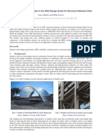 Development of design rules in the AISC Design Guide for Structural Stainless Steel