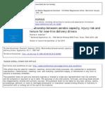 Relación entre la capacidad aeróbica, el riesgo de lesiones y tenencia para los conductores de suministro de nueva contratación
