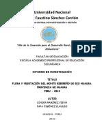 FLORA Y VEGETACIÓN DEL MONTE RIBEREÑO DE RIO HUAURA, PROVINCIA DE HUAURA, PERÚ 2012