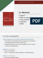 Mergesort Coursenotes