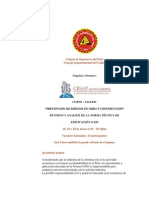 Prevencion de Riesgos en Obra y Construccion Norma G.050
