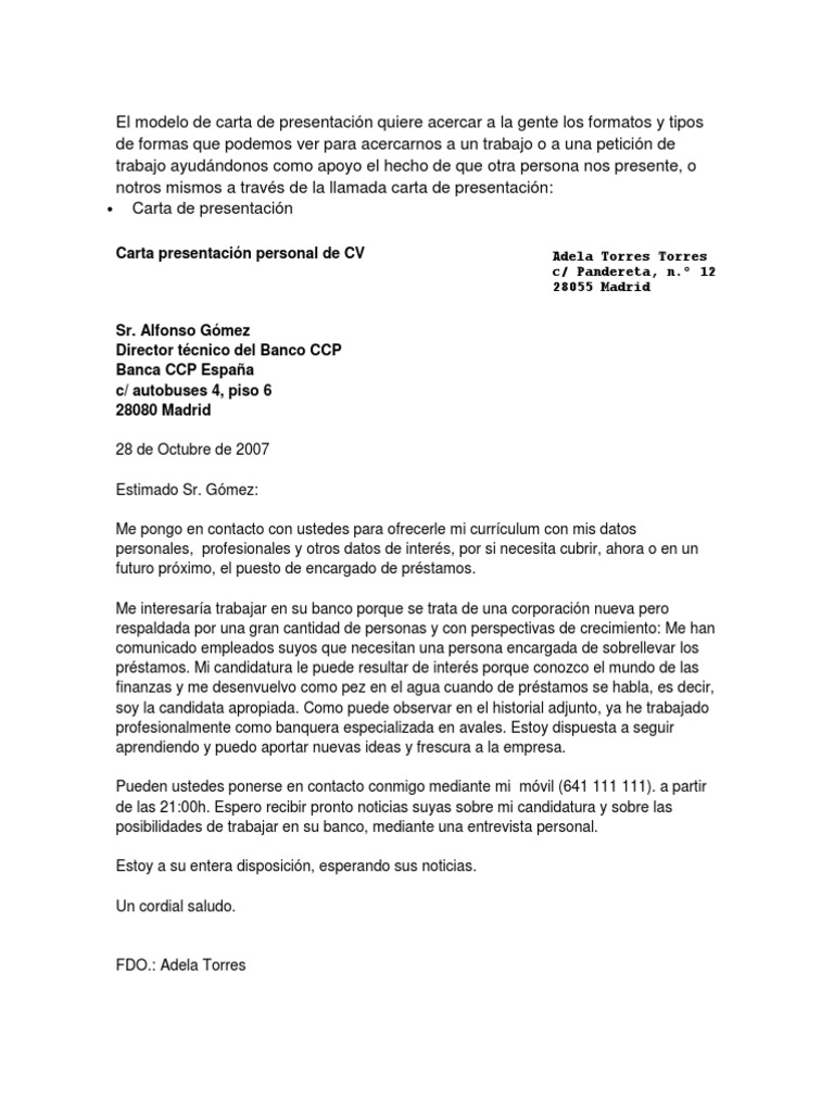 Fantástico Carta De Presentación Del Currículum De Noticias Foto ...