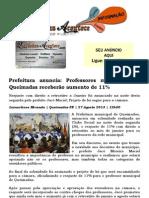 Prefeitura Anuncia Professores Municipais de Queimadas Receberam Aumento de 11%