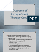 OT7 - Outcome of Occupational Therapy Group