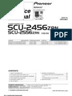 Pioneer Scu-2456 Scu-2556 Renault