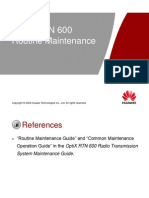 OTF101202 OptiX RTN 600 Routine Maintenance ISSUE 1.02