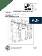 Non-Residential Floodproofing Cert Fema 3-93