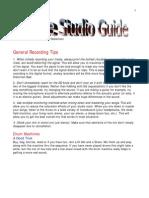 Basic Recording Tips