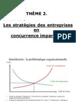 2.Les stratégies des entreprises 2007-8