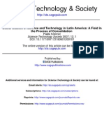 KREIMER Social Studies of Science and Technology in Latin America a Field in the Process of Consolidation