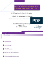 CFD Simulation of a 3-Bladed Horizontal Axis Tidal Stream Turbine Using RANS and LES