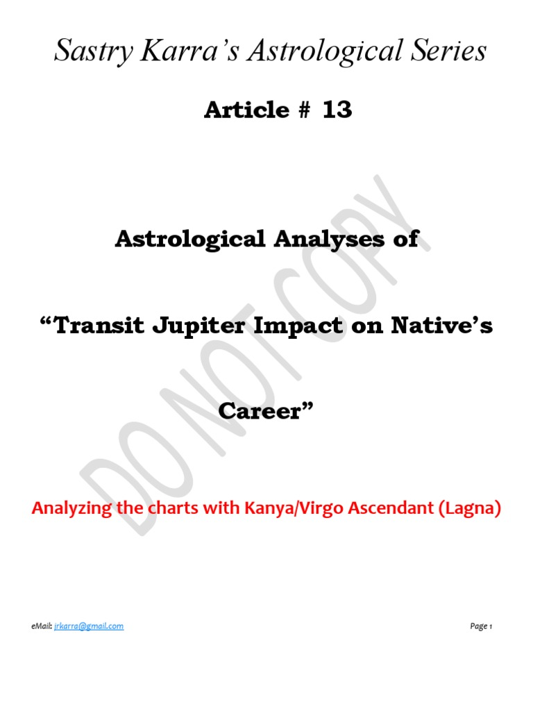 Article 13 Astrological Analyses Of Transit Jupiter Impact On