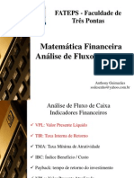 Slides 8 - Análise de Fluxo de Caixa