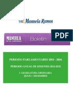Consolidado I Legisaltura 2011 20121