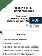 Reforma Educativa-Conferencia Magistral - Rector UNAM - Plenaria GPPRD - 27 Agosto 2013