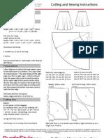 Patrón Falda de Burda Style