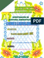 Informe de La Auditoria Administrativa