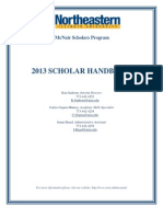 mcnair scholar student hanbook - 2013 2 1