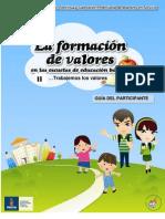 La formacion de valores en las escuelas de educación básica II GUIA DEL PARTICIPANTE final