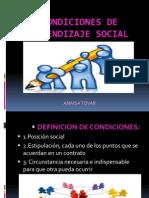 Condiciones de Aprendizaje Social