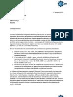 Carta Cam Usach a Directora Sistema de Bibliotecas Usach