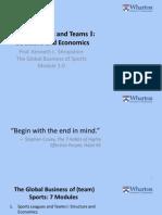 Coursera Sports Business Course Module 1