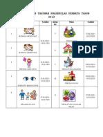 Tema Rancangan Tahunan Prasekolah