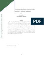 Proposal for an Experimental test of the many-worlds interpretation of quantum mechanics