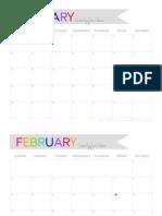 2014 Printable Calendar 8.5x11 - The Twinery