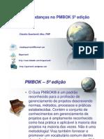Mudanças 5 edição PMBOK