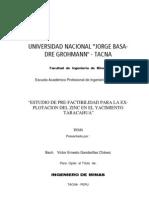 Zinc Taracahua