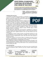 Edital Nº 0452013 Auxílio Moradia-NAE