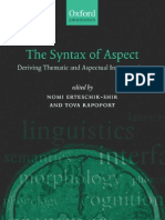 The Syntax of Aspect 2005